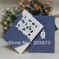 100PCS/LOT Hot Sale 200gsm Fancy Paper Chinese Lace Wedding Card Invitations T116