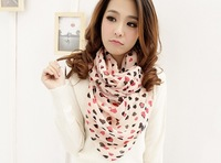The order of at least $10(mixed order) F014 Autumn is prevented bask in women fashion heart design scarf free shipping