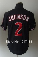 Free Shipping #2 Kelly Johnson Men's Baseball Jersey,Embroidery and Sewing Logos,size M--3XL,Accpet Mix Order