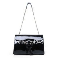 Shiny Leather 295403 2013  new  fashion women design genuine leather shoulder handbag top quality wholesale