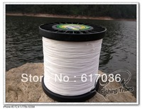 Free shipping 100% pe  braided fishing line white 1500yards   8LB 10LB15LB20LB30LB40LB50LB65LB80LB100LB