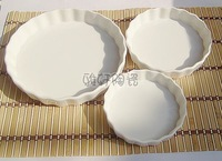 Home decoration  White vertical stripes winter three-dimensional bone china plate bake kitchen utensils