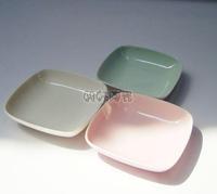 Ceramic saucer plate three-color condiment dish dessert dish