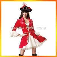 2013 Hot Sale Red Pirate Women fancy dress  AHWC-1141