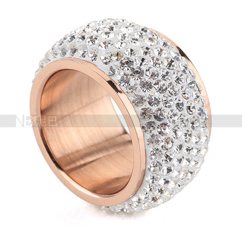Min order $10 NIBA brand Champagne Gold Plated fashion rhinestone rings for women ...