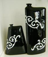 Peones flat bottles modern fashion home decoration resin craft vase