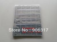30  openings per page  3.5cm*3.5cm, 20pcs/lot Vinyl Coin Pages Plastic Page