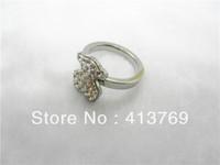 fishion bear zircon ring stainless steel rings