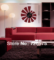 DIY Large Vinyl Designer Decor Wall Clock Sticker Mural Art Decals Red 10A025 Free Shipping