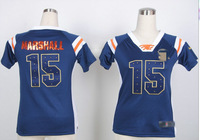 Free Shipping #15 Brandon Marshall women's Elite American Football Jersey,Embroidery and Sewing logos,size S-2XL,Can Mix Order