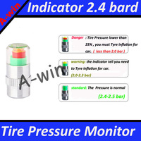 New Mini 2.4Bar Car Tire Tyre Pressure Monitor Valve Stem Cap Sensor Indicator  Alert wholesale Dropshipping