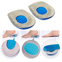 Free shipping/Dorpshopping Wholesale 10PAIRS Gel Foot Heel Cushion Cups Support Spur Insoles Pad Pain Arthiritis H-208A