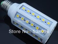 E27 B22 E14 12W 5050 60 SMD LED Corn Light Bulb Lamp Lighting  White / Warm white 110V/220V/AC CE ROHS  Free shipping