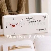 Guaranteed 100% Free shipping Needle Wall Clocks(1pc) ,Home Decoration Memo Wall Clock Retail Lc13102001