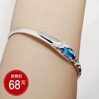 Birthday gift austria crystal bracelet fashion female aquamarine glass shoes crystal bracelet