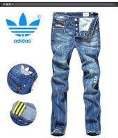 Fashion trend of the 2013 vintage retro finishing wearing white water wash slim jeans male plus size dl003