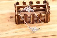 Free shipping High quality Silver Five Leaf flowers Diamond Rhinestone Case For iPhone 5 5g Fresh Luxury