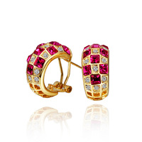 Multicolour Csystal 18K Gold Plated Fashion Jewelry Made with Austrian Crystal SWA Elements Wholesale Luxury Drop Earrings