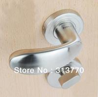 85mm Free shipping  2pcs handles with lock body+keys 304 stainless steel bedroom wooden door handle door locks