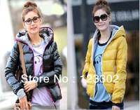 2013 autumn winter fashion women's coat hoody thermal wadded jacket cotton-padded outerwear 4 colors Free shipping S0064