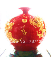 The latest 2013 K gold ceramic vases, handmade jewelry family adornment place adorn article