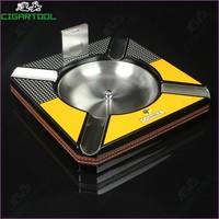 T0083 cohiba ashtray wood metal material