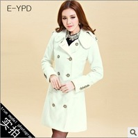 2013 women's fashion overcoat fur collar cloak cashmere medium-long woolen outerwear female
