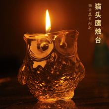 Free Shipping Fashion owl mxmade glass mousse crystal mousse at home decoration(China (Mainland))