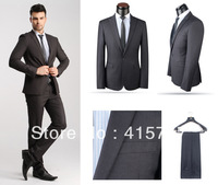 Drop Shipping Black/Blue Men's Casual Business Suits Brand Wool Formal Dress Suits New Korean Style Slim Wedding Suits