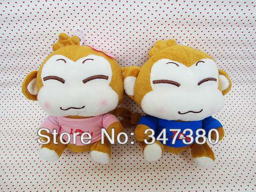 Lover Monkey Baby Soft Doll Plush Stuffed Animals Toys 30Pcs/Lot Ems Free Shipping(China (Mainland))