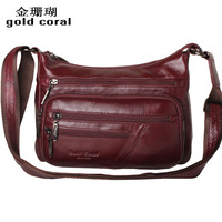 2013 cowhide messenger bag genuine leather shoulder bag women's bags trend bag