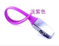 Purple  Newest Hot Denmark menu titanium keychain car gift car key ring/key chain keyfob