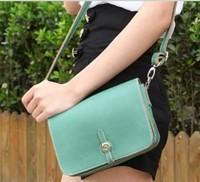 2014 Retro Buckle Solid Shoulder Bag Leisure Messenger Handbags Wholesale for Women in Stock