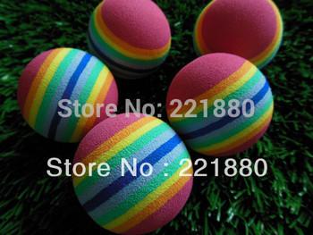 10pcs Rainbow Color Foam Golf Balls Golf Practice Balls