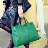 2014 New Retro Women's Solid Briefcase PU Leather Handbag Shoulder Bag Wholesale in Stock