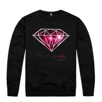 Diamond supply co mens hiphop autumn winter high fashion brand Hoodies fleece print pullover sportswear sweatshirt sweater
