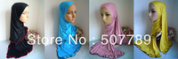 a485 new style soft cotton with cotton lace muslum long scarf top grade assorted colors islamic hijab