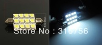 "A pair of White 12-SMD 1.65"" 42mm DE3175 DE3022 LED Map Dome Light"