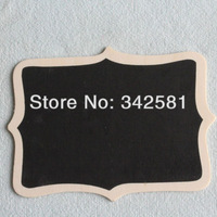Free Shipping 5 pieces /lot 12 x 18 cm Large Fancy Shield Shape Blackboard Wooden CHALKBOARD For Wedding/Party Decoration