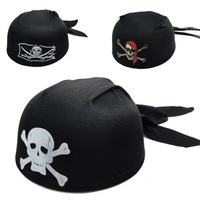 New Arrival Wholesale10pcs/lot Halloween Masquerade Party Supplies Costume Props, Pirate Skull Round Hat for Adult/ Children 55g