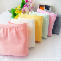 6 PCS candy colored pure cotton lady's inner pan Panties free shipping #703