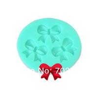 Soft Silicone Mold Cake Decorating Mould Bowknot Shape Sugarcraft Tool 2PCS