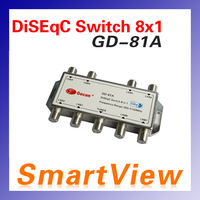 1pc  GD-81A 8 in 1 8X1 DiSEqC Switch Satellites FTA TV LNB Switch for satellite receiver  free shipping