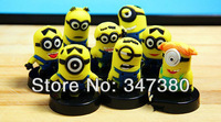 Despicable Me 2 Precious Milk Dad 3D glasses Huang Doudou capsules minions figures