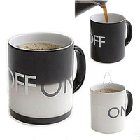 Fancy Magical ON /OFF Color Changing Hot Cold Heat Sensitive Mug Ceramic Cup