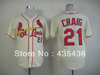 Free shipping Allen Craig #21 st louis Authentic Embroidery and stitched onfield Cool Base Baseball Jersey, mix order