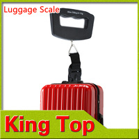 1Pcs 50Kg/10g LCD Electronic Portable Hanging Luggage Weight Hook Digital Scale-Free Shipping