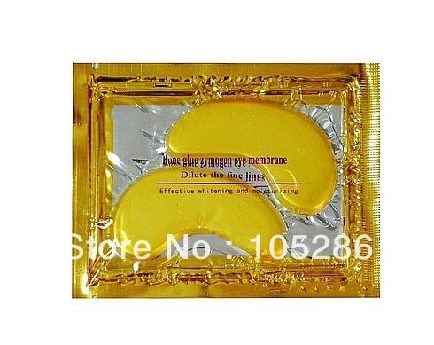 10pcs Gold Crystal collagen Eye Mask Hotsale eye patches 10pcs=5 pack(China (Mainland))