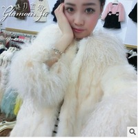 2013 European and American big gas field Haining all imports of high-quality lamb wool fur streaked free shipping