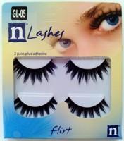 High quality 2 false eyelashes gl05 dense natural black cross bare makeup